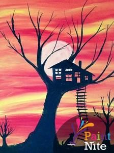Come to Paint Nite at John Martin's Sunday October 18th from 1-3 and paint your own spooky Halloween Hideout!! Use coupon code: LuckyIrish to save $20 off your tickets at https://www.paintnite.com/pages/events/view/miami/909014