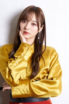 Red Leather, Leather Jacket, Korean Girl Fashion, Japanese Beauty, Idol, Satin, Silk, Studded Leather Jacket, Leather Jackets
