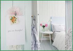 Romantisch interieur voor een meisjeskamer