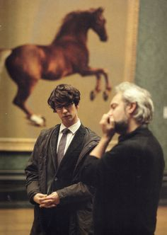 "Ben Whishaw & Sam Mendes on the set of ""Skyfall"""