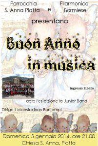 Buon Anno in musica dalla Filarmonica Bormiese, 5 gennaio 2014 a Piatta (Valdisotto) #filarmonicabormiese