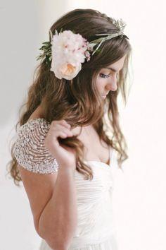 We love this bride's look: http://www.stylemepretty.com/texas-weddings/2014/07/31/rustic-elegant-styled-shoot/ | Photography: Keepsake Films - http://www.keepsakefilms.com