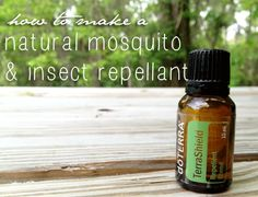 How to Make a Natural Mosquito and Insect Repellant Using Essential Oils, via SustainableBabySteps.com