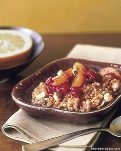 Whole Grain Goodness // Multigrain Hot Cereal with Cranberries and Oranges Recipe