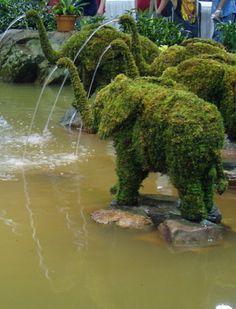 Elephant Topiary Fountain | Virginia Beach, VA