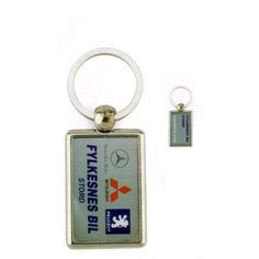 Porte Clef Metal Rectangle 40 25 double face   Un Porte Clefs en Métal avec 73f6a80dbe2
