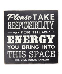 Loving this 'Please Take Responsibility' Wall Art on #zulily! #zulilyfinds