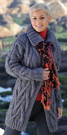 coat, knitting
