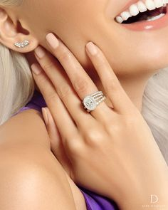 Designed from a three-dimensional perspective to display the crown and the depth of your diamond, Ava is always looking on the bright side. Cushion Cut Engagement Ring, Gold Engagement Rings, Engagement Ring Settings, Halo Engagement, Wedding Rings, Round Cut Diamond, Diamond Shapes, Diamond Bands, Diamond Jewelry