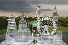 Esculturas de gelo.