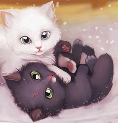 Image about kawaii in gatos everywhere by Pame Cat Wallpaper, Animal Wallpaper, Super Cute Animals, Cute Baby Animals, Cute Kittens, Cats And Kittens, Gato Anime, Cute Animal Drawings, Cute Cartoon Wallpapers