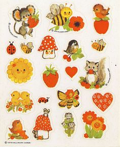 Hallmark stickers... I think we had these