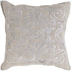 Adeline Down Fill Square Pillow in Moss and Gray