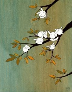 Old Apple Tree by krisblues on Etsy, $20.00