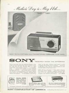 Sony Portable Transistor Pocket Home Radio (1961)