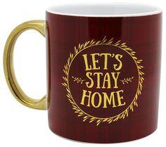 TMD Metallic Handle Let's Stay Home 22 oz. Mug