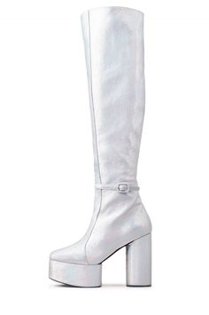 Jeffrey Campbell Shoes RICOCHET New Arrivals in Silver Metallic