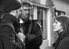 Glen Hansard, John Carney and Marketa Irglova on set of Once (2006)