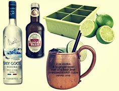 the moscow mule signature drink, via calder clark designs