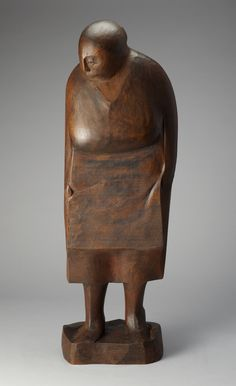 valscrapbook: artgalleryofontario:Woman with Apron, 1958Anne Kahane, Canadian, born 1924,Mahogany,Gift from the McLean Foundation, 1958© 2012 Art Gallery of Ontario