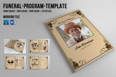 Child Funeral Program Template Memorial Program By Templatestock