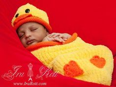 animal themed baby cocoons crocheted | Handmade Knit Ducky Hat and Cocoon Set for Newborn Babies Super soft ...
