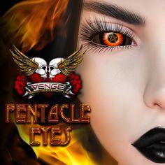 Merchant: VENGE Prize Name: Pentacle Eyes - Fire Pentacle, Halloween Face Makeup, Fire, Eyes
