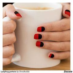Ladybug pattern  Minx® nail art