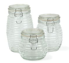 Beehive glass jars - lovely things :)