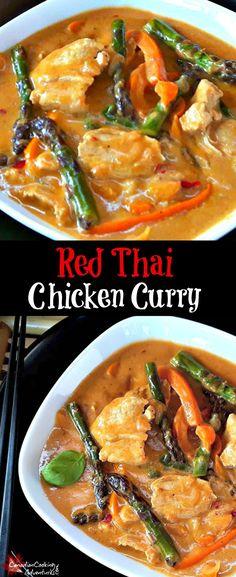 Asparagus-1 Red Thai Chicken Curry + Asparagus