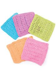 Baby & Kids Knit Downloads - Baby Facecloths Knit Pattern