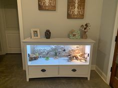 Converted an old dresser into an enclosure Bearded Dragon Vivarium, Bearded Dragon Enclosure, Bearded Dragon Terrarium, Bearded Dragon Cage, Bearded Dragon Habitat, Reptile Habitat, Reptile Room, Reptile Cage, Lizard Cage