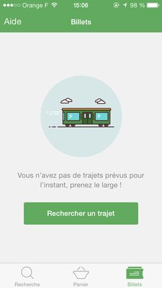 Capitaine train app screenshot. Mobile Ui Design, Ui Ux Design, Icon Design, Empty State, Splash Screen, Web Inspiration, Looks Cool, Mobile App, Train