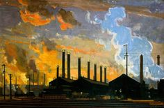 British Industries: Steel (London, Midland and Scottish Railway poster artwork, 1924  Richard Jack  photo credit: National Railway Museum