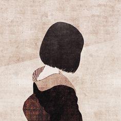 kazenote garden — chibakotaro: S - original works © Kotaro Chiba . Japanese Art Modern, Japanese Prints, Gothic Wallpaper, Goth Art, Japanese Painting, Japan Art, Gravure, Anime Art Girl, Female Art