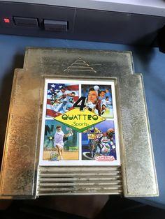"Vintage Harder To Find Nintendo NES Quatro Sports Game "" Gold Colered Case"" Rare"