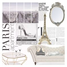 """""""The Perfect Paris Apartment"""" by emerald-writer-girl ❤ liked on Polyvore featuring interior, interiors, interior design, home, home decor, interior decorating, Art Addiction, Eichholtz, Oliver Gal Artist Co. and Noritake"""