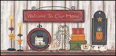 Art Print Framed Plaque Artist Lisa Kennedy Welcome to Our Home KEN561 | eBay