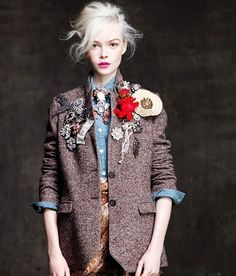5e5caa9772e vintage brooches add drama to a tweed jacket ~ETS
