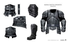 "Concept art the Erebor Dwarven guards' Moria armor from ""The Hobbit: An…"