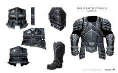 """Concept art the Erebor Dwarven guards' Moria armor from """"The Hobbit: An…"""