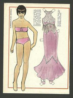 Liza Minnelli Scarce Vintage Paper Doll | eBay