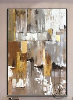 Texture Painting On Canvas, Abstract Canvas Art, Diy Canvas Art, Art Moderne, Colorful Paintings, Leaf Photography, Artwork, Large Canvas, Gold Leaf