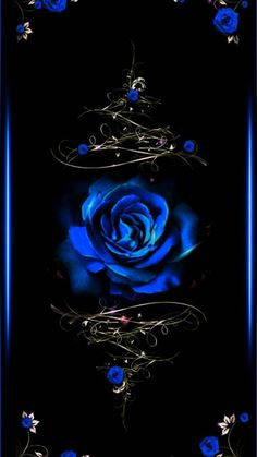 Blue Rose wallpaper by theyyloveelenaa - - Free on ZEDGE™ Black And Blue Wallpaper, Blue Roses Wallpaper, Gothic Wallpaper, Flower Phone Wallpaper, Butterfly Wallpaper, Heart Wallpaper, Cute Wallpaper Backgrounds, Colorful Wallpaper, Galaxy Wallpaper