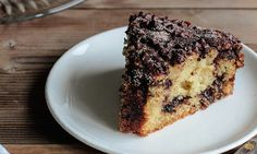 Food is about sharing and so is this buttery, rich cake topped with cinnamon and chocolate chips.  Serve  with a cup of coffee or a glass of milk.
