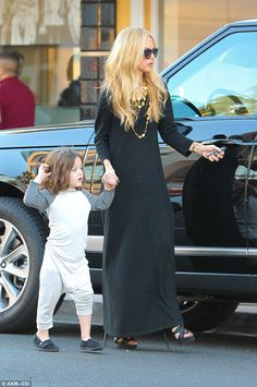 Yummy mummy: Celebrity stylist Rachel refused to wear her flip-flops in public......