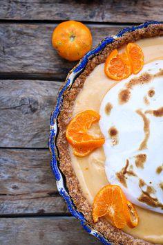 avec les dernières mandarines de la saison Fruit Recipes, Tea Time, Panna Cotta, Ethnic Recipes, Food, Pie, Kitchens, Dulce De Leche, Essen