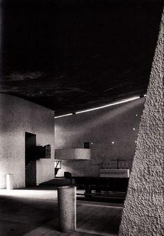 Chapel at Ronchamp/ Notre Dame du Haut.  Ronchamp, France. 1954. Le Corbuser.