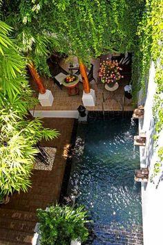 Schmaler Pool Arten Moderner Hausbau | Pool | Pinterest ... Sommerlaune Pool Im Garten 68 Ideen