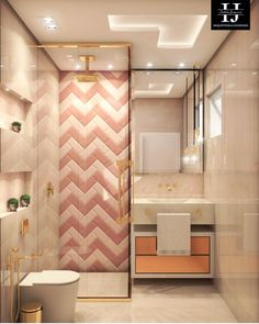 53 Bathroom Design Tips Trending This Year - Home Decor HD New Interior Design, Bathroom Interior Design, Interior Decorating, Bad Inspiration, Bathroom Inspiration, Bathroom Ideas, Bathroom Design Small, Modern Bathroom, Bathroom Pink